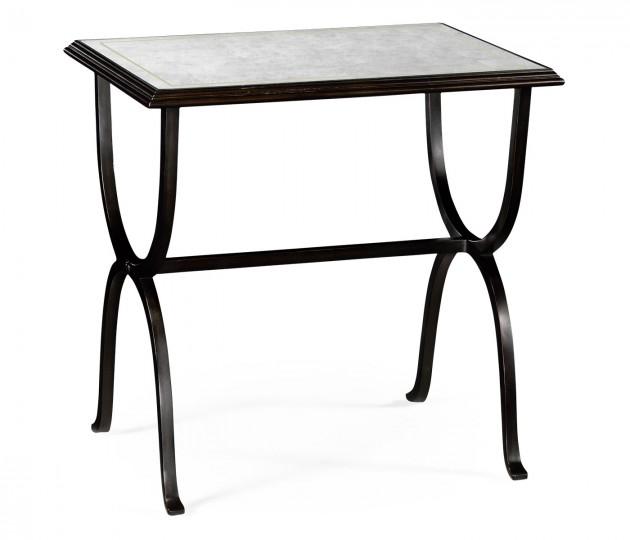 �glomis� & Bronze Iron Rectangular Side Table