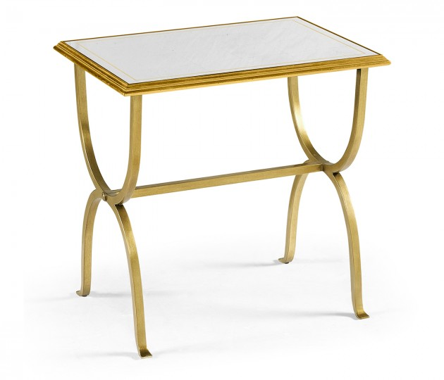 �glomis� & Gilded Iron Rectangular Side Table