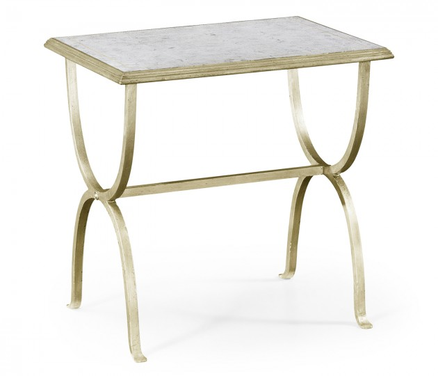 �glomis� & Silver Iron Rectangular Side Table