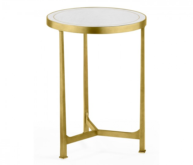 �glomis� & Gilded Iron Round Lamp Table