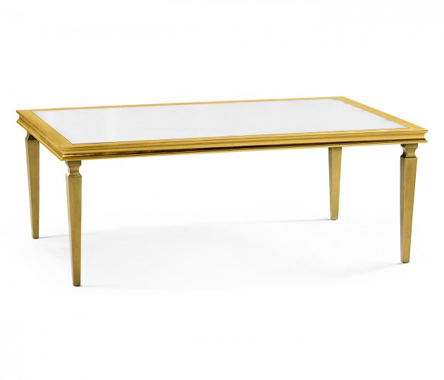 Italian Gilded Rectangular Coffee Table
