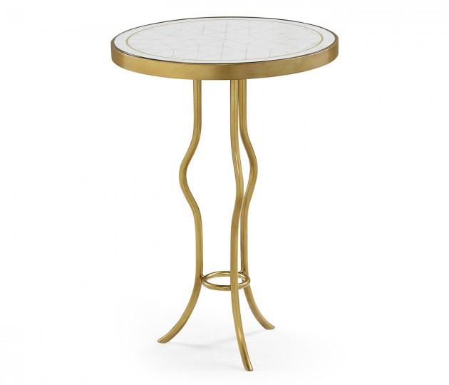 �glomis� & Gilt Iron Round Wine Table