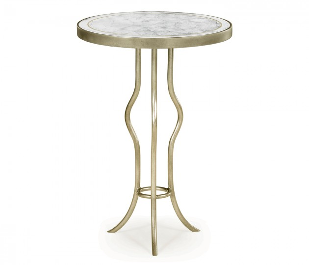 �glomis� & Silver Iron Round Wine Table