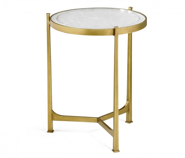 Églomisé & Gilded Iron Medium Lamp Table