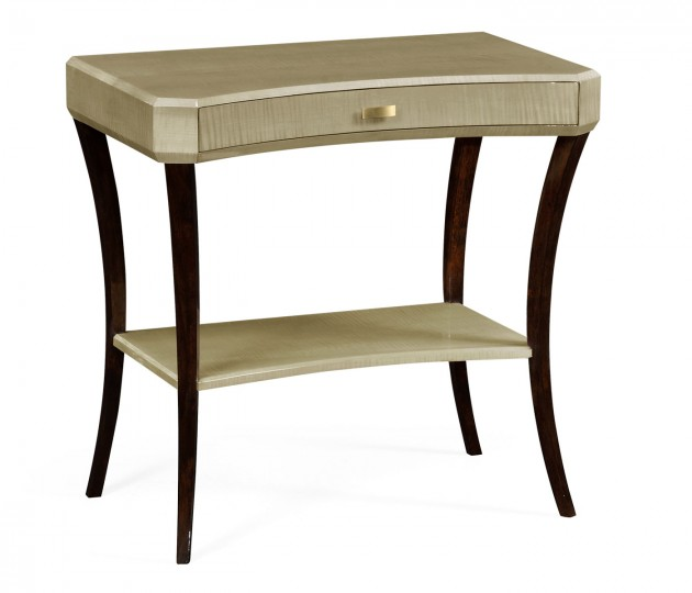 Art Deco Rectangular Side Table with Drawer