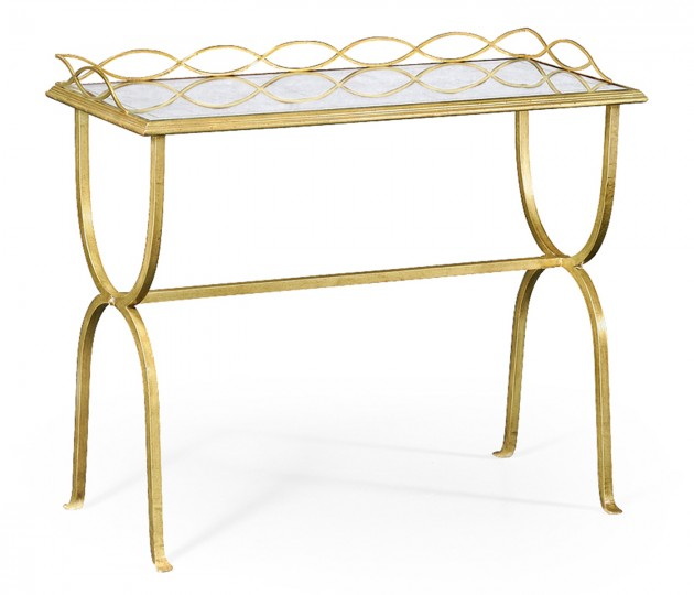 �glomis� & Gilded Iron Drinks Table