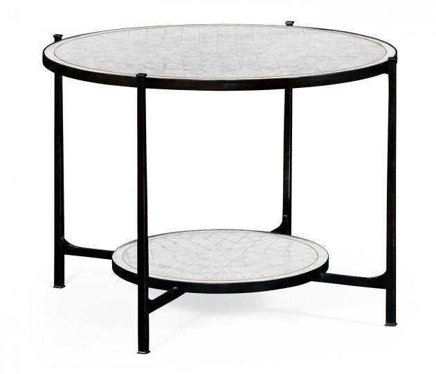 �glomis� & Bronze Iron Centre Table