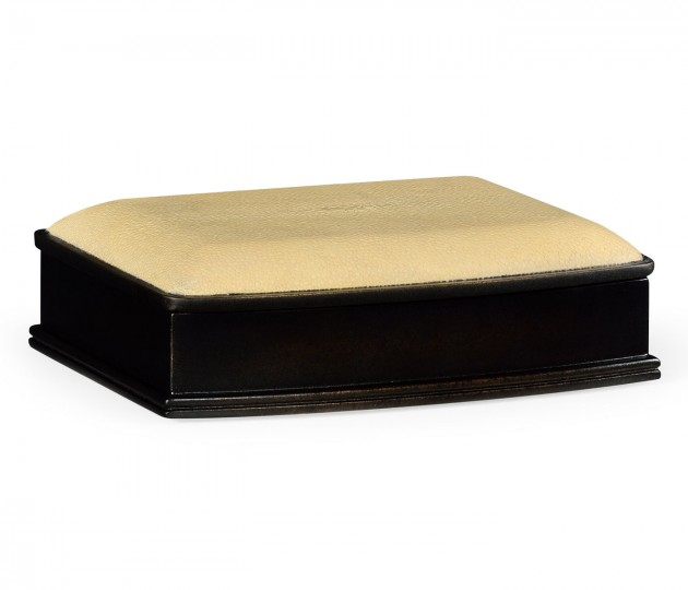 Faux shagreen bronze box (Cream)