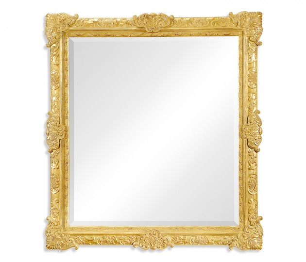 French style gilded grisaille mirror