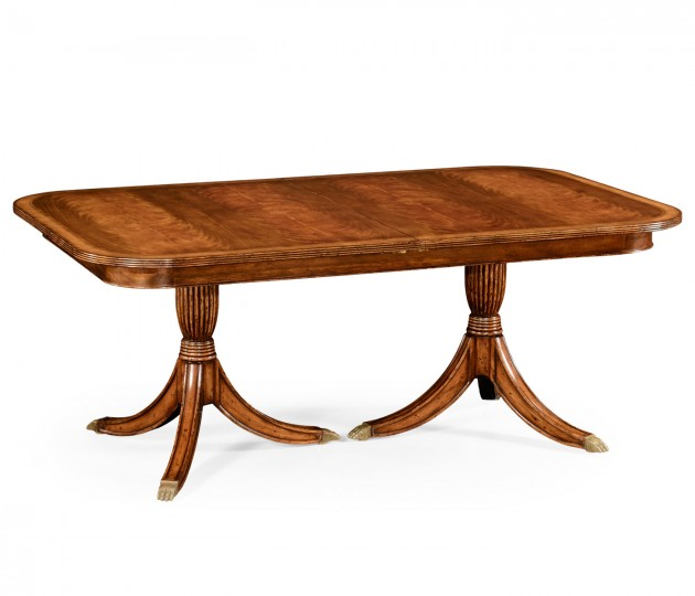 Regency Crotch Walnut Extending Dining Table