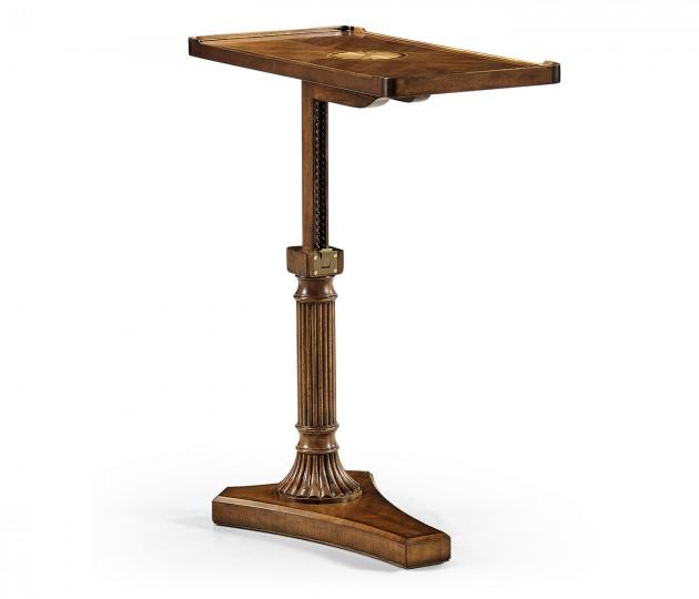 Satinwood adjustable sofa/bed table