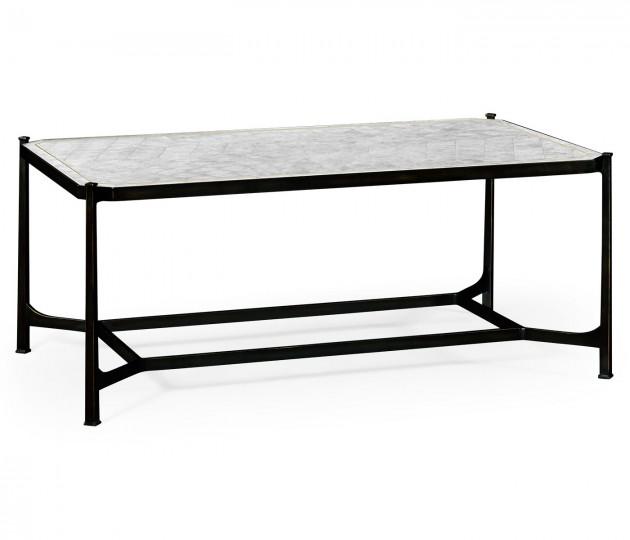 �glomis� & Bronze Iron Rectangular Coffee Table