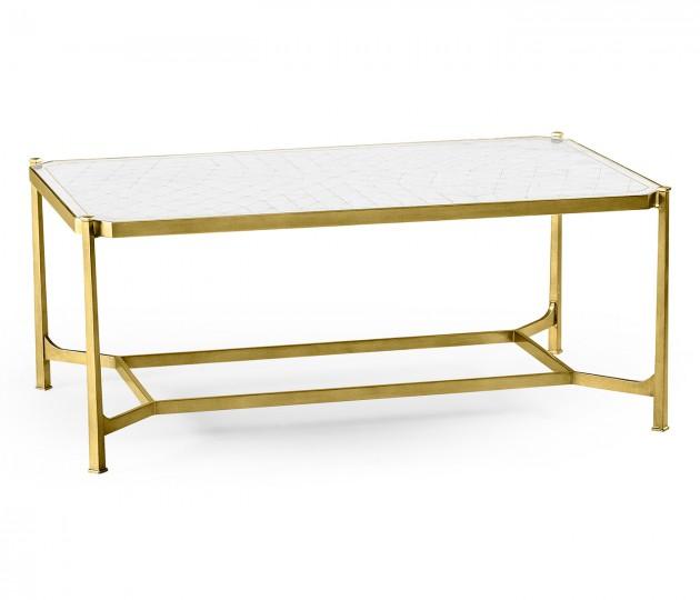 �glomis� & Gilded Iron Rectangular Coffee Table