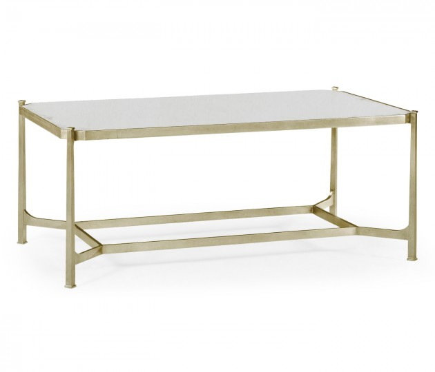 Antique Mirror & Silver Rectangular Coffee Table