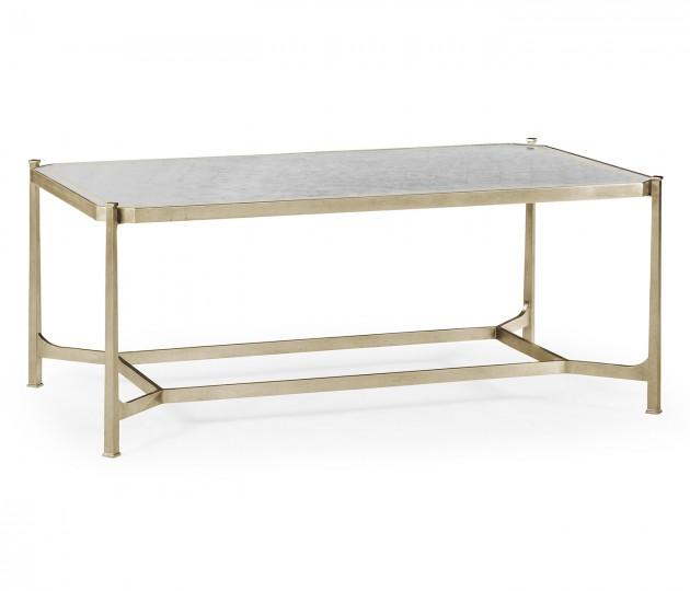 �glomis� & Silver Iron Rectangular Coffee Table