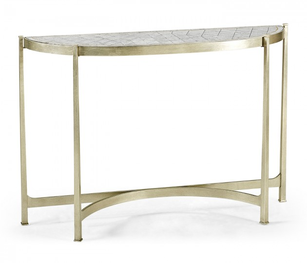Large �glomis� & Silver Iron Demilune Console