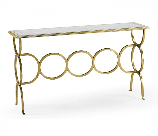 �glomis� & Gilded Iron Circles Console