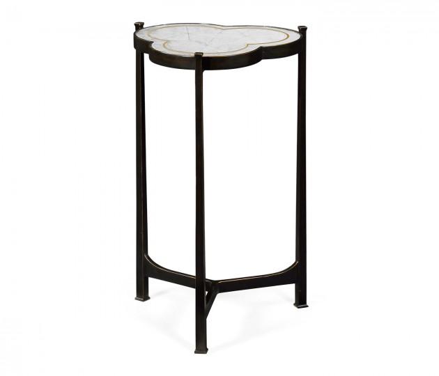 �glomis� & Bronze Iron Trefoil Lamp Table