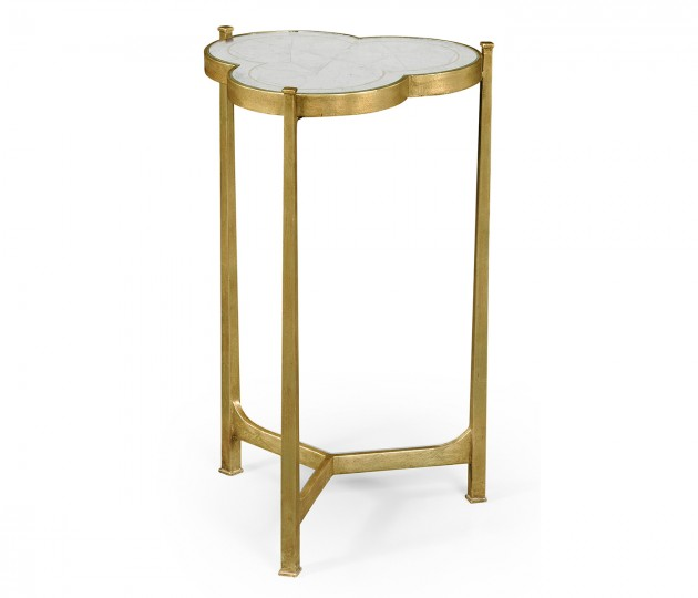 �glomis� & Gilded Iron Trefoil Lamp Table