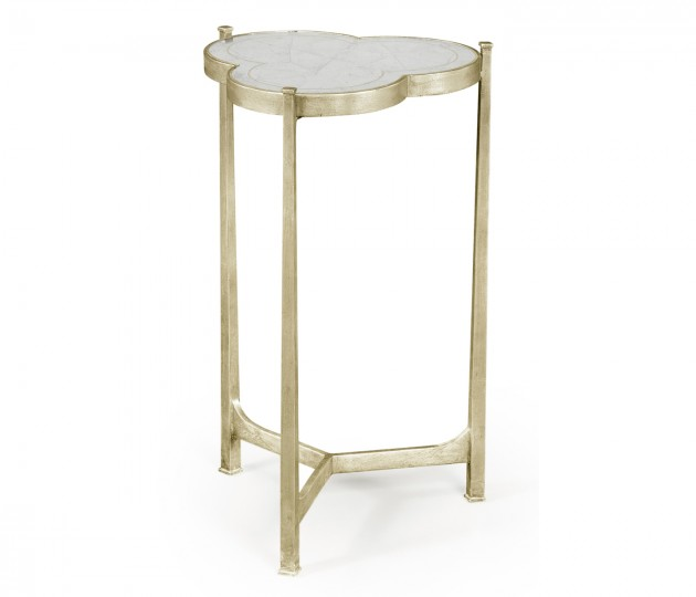 �glomis� & Silver Iron Trefoil Lamp Table