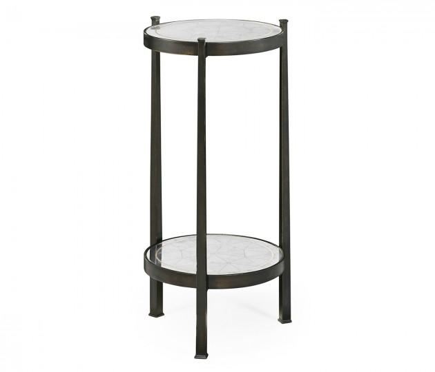 Églomisé & Bronze Iron Wine Table