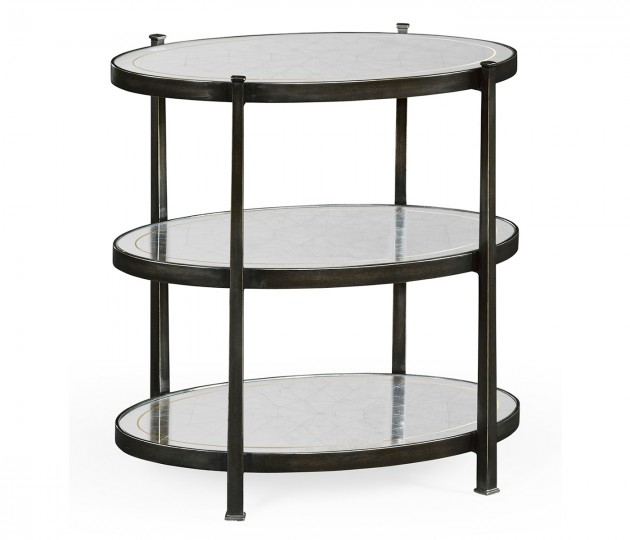 Small �glomis� & Bronze Iron Three-Tier Table