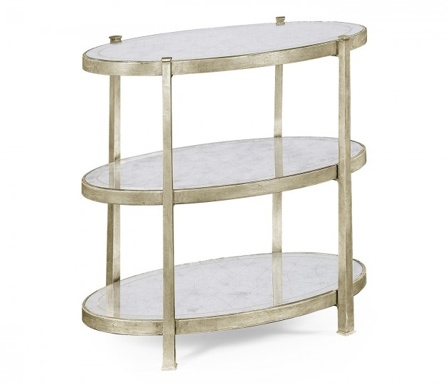 Small �glomis� & Silver Iron Three-Tier Table