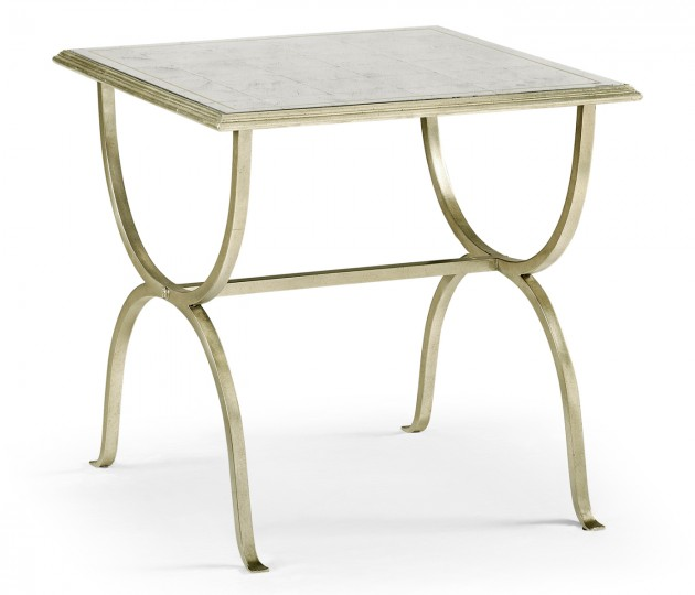 �glomis� & Silver Iron Square Side Table
