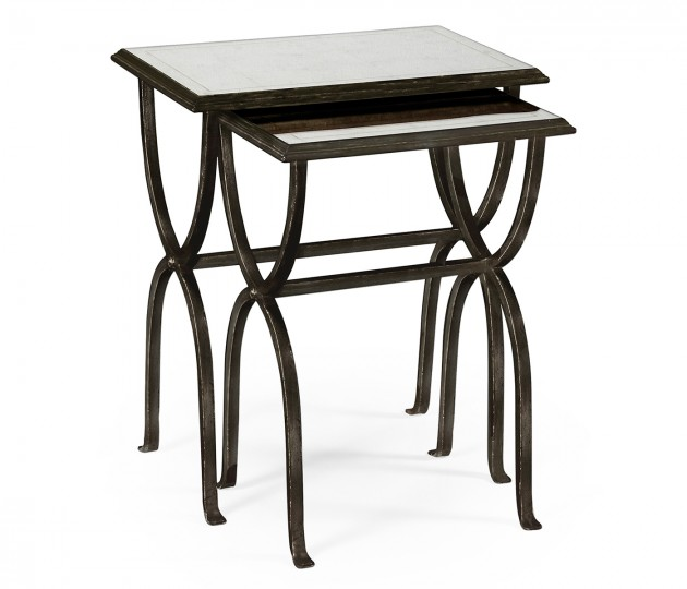�glomis� & Bronze Iron Nest of Tables