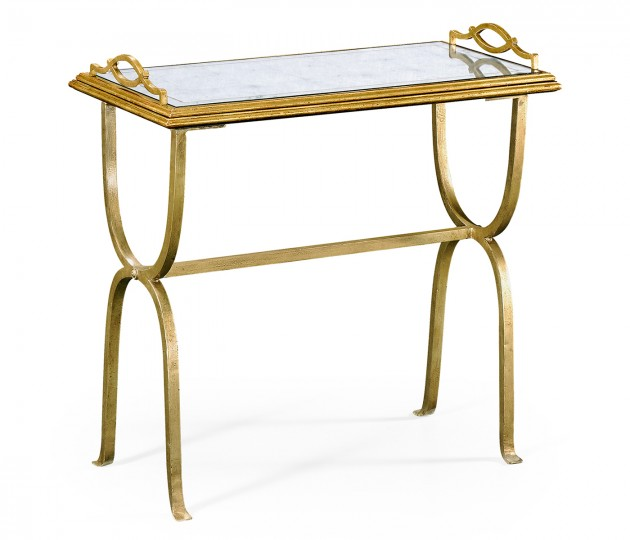 �glomis� & Gilded Iron Tray Table