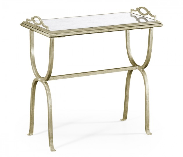 �glomis� & Silver Iron Tray Table