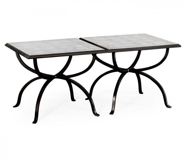 �glomis� & Bronze Iron Set of Two Tables