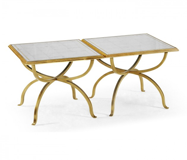 �glomis� & Gilded Iron Set of Two Tables