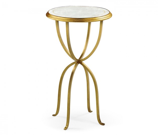 �glomis� & Gilded Iron Lamp Table with Bunched Legs