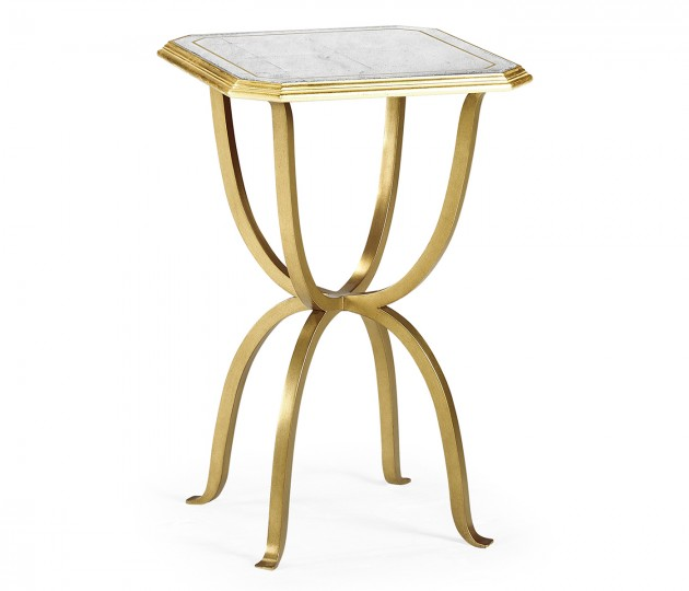 �glomis� & Gilded Iron Octagonal Side Table