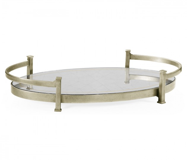 �glomis� & Silver Iron Oval Tray