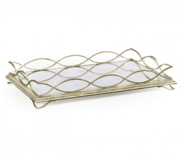 �glomis� & Silver Iron Rectangular Tray
