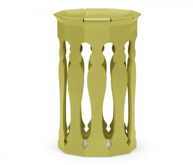 Moorish Lamp Table (Split Pea)