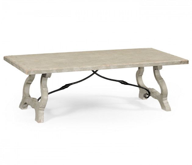 Spanish style grey coffee table