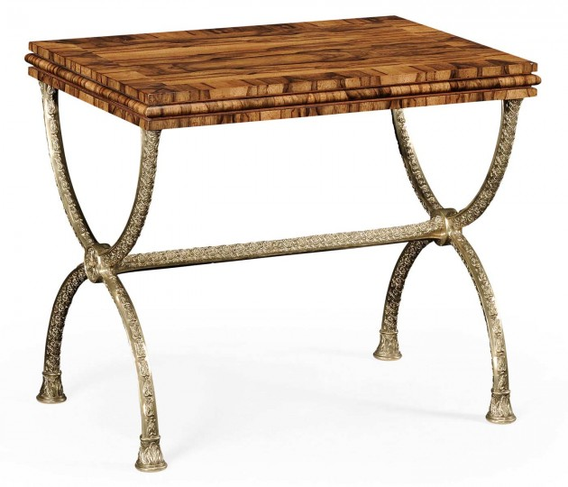 Argentinian Walnut Rectangular Side Table