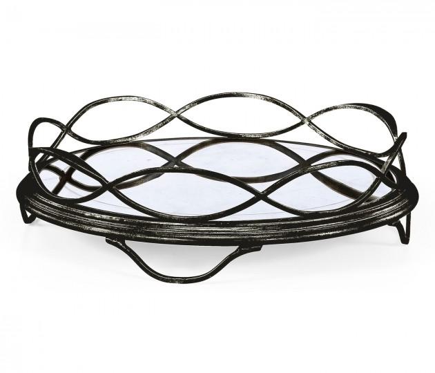 �glomis� & Bronze Circular Tray