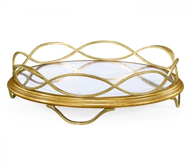 �glomis� & Gilded Circular Tray