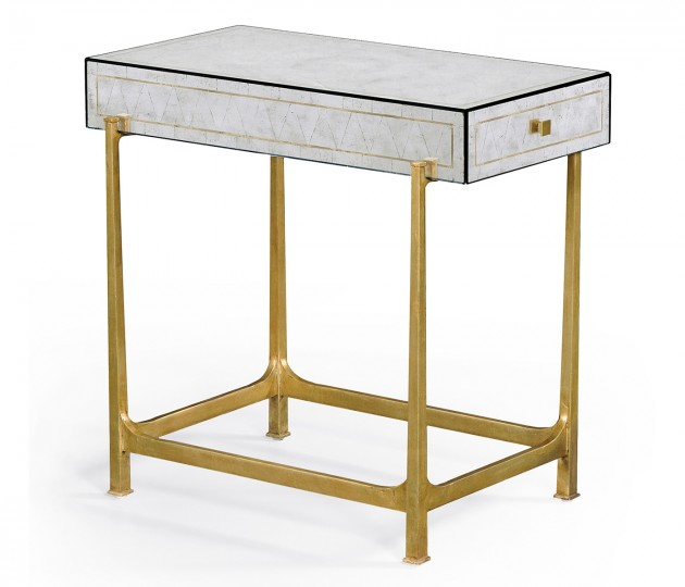 �glomis� & Gilded Iron Box Top Side Table