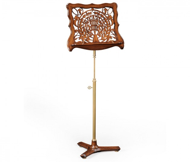 Fretwork Walnut Adjustable Music Stand