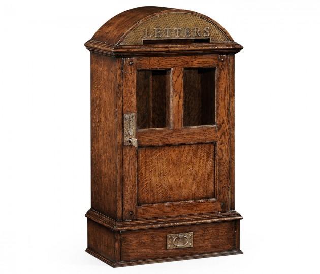 Dark Oak Letter Box with Lock