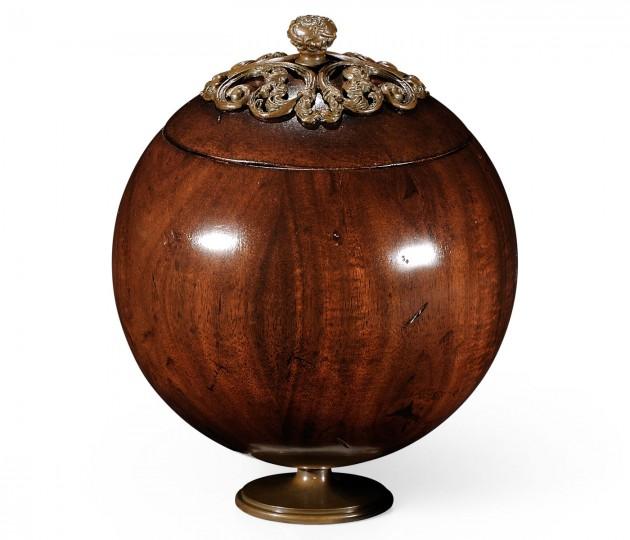 Large George III Round Walnut Box