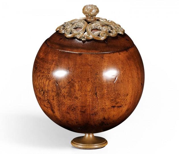 Small George III Round Walnut Box