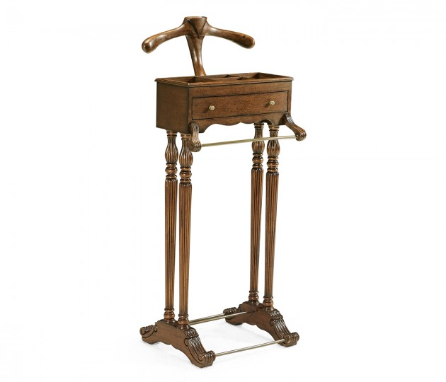 Regency Style Walnut Valet Stand with Stud Box
