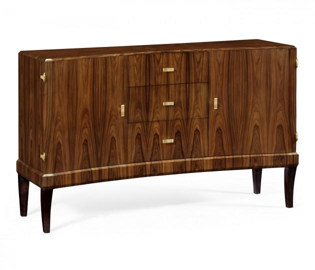 Art Deco High Lustre Curved Sideboard