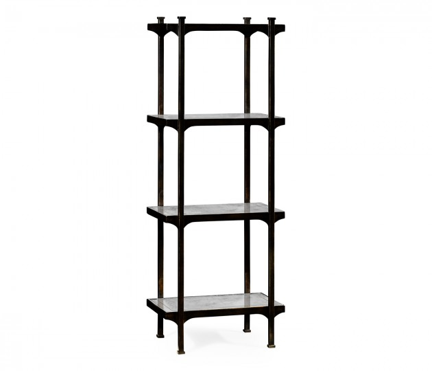 �glomis� & Bronze Iron Narrow Four-Tier �tag�re